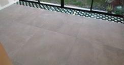 Perfect Cérame - Nantes - Réalisation de sol grand format avec décor carreau ciment