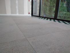 Perfect Cérame - Nantes - Réalisation de sol grand format avec décor carreau ciment.2